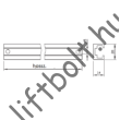 Reed cső tartó gyűrűhöz sín - 100 mm