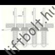Kötélágba építhető terhelés érzékelő - mechanikus rész RS4