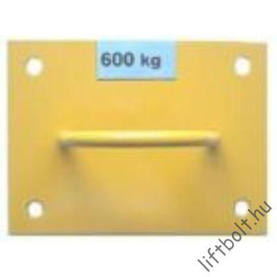 600 kg teherbírású emelőhorog mennyezetre