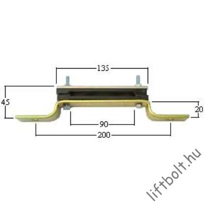 Úszókábeltartó fali, fém, 90 mm
