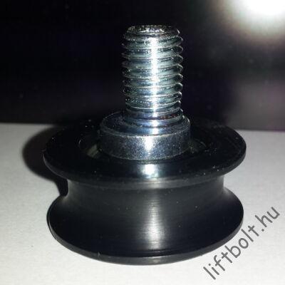 FERMATOR Excentrikus alsó támasztó görgő aknaajtóhoz, fülkeajtóhoz 40/10 modell D=33 mm PFR-04