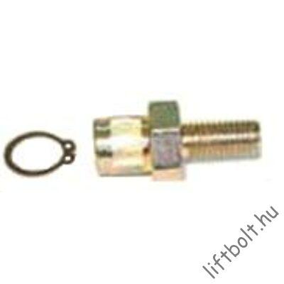 d15 centrikus csap, M10 menettel, Z17 zégergyűrűvel