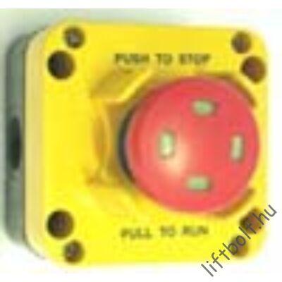 tokozott biztonsági STOP gomb