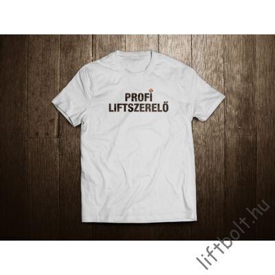 profi liftszerelő póló - fehér