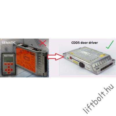 CDD5 ajtóhajtás Sematic SDS DC-PWM ajtóhajtás elektronika helyett