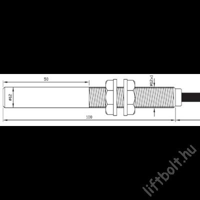reed cső - Bistabill mágneses érzékelő - menetes