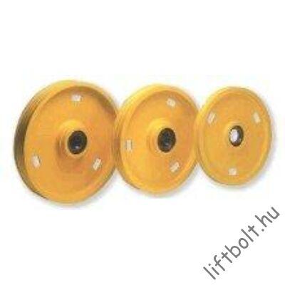 Terelőtárcsa D400 4xd10 bakcsapággyal